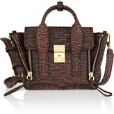 3.1 Phillip Lim The Pashli Mini shark-effect leather trapeze bag