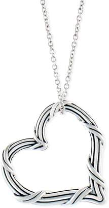 Peter Thomas Roth Sterling Open Heart Pendant w/ Chain