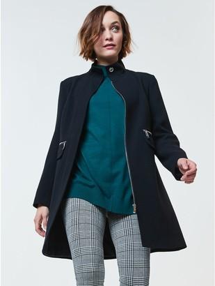 M&Co Funnel neck coat