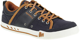 Merrell Rant Canvas And Leather Lace-up Trainers, Navy/bering Sea