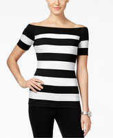 MICHAEL Michael Kors Striped Off-The-Shoulder Top, A Macy's Exclusive