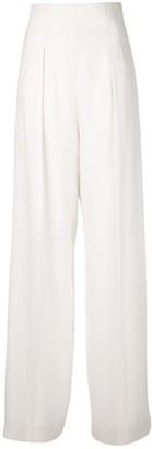 Proenza Schouler Textured Crepe High Waist Pants