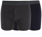 J By Jasper Conran Designer Pack Of Two Navy And Dark Grey Soft Stretch Boxers