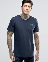 The North Face T-shirt With Chest Logo In Navy