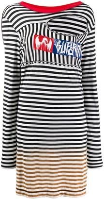 Diesel oversized striped jumper