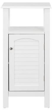 Elegant Home Fashions Sierra 1-Door Bathroom Storage Floor Cabinet with Open Shelf