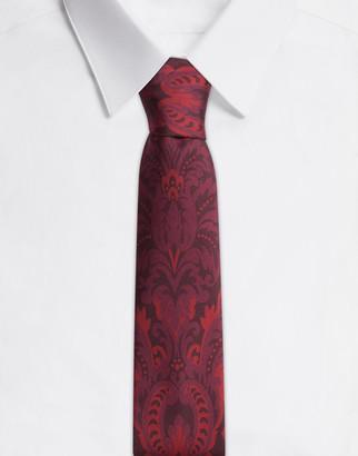 Dolce & Gabbana Silk Tie In Baroque Logo Print