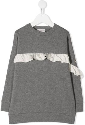 Moncler Enfant Ruffle-Trim Sweatshirt
