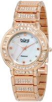 Burgi Women's BUR067RG Mother-Of-Pearl Diamond Quartz Watch