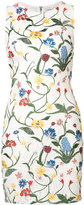 Alice + Olivia Alice+Olivia embroidered flowers lace dress