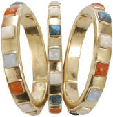Vaubel Square Stone Triple Bangle
