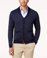 Tasso Elba Men's Jacquard Cardigan, Created for Macy's