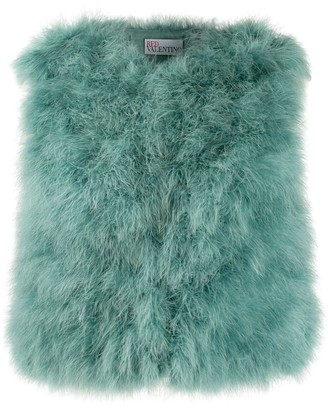 RED Valentino feather gilet