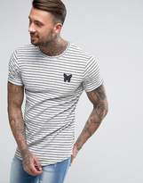 Good For Nothing T-shirt In Grey Stripe