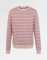 Fat Face Devon Stripe Crew Neck Sweat