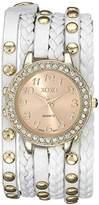 XOXO Women's XO5603 White Braided Wrap Watch