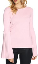CeCe Women's Pleated Bell Sleeve Sweater