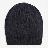 Joe Fresh Men's Cable Knit Beanie, Black (Size O/S)