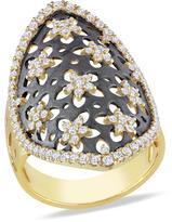 Julie Leah 1 CT TW Diamond 14K Gold Flower Fashion Ring