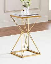 John-Richard Collection Geometric Brass Side Table