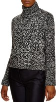 Moncler Maglione Tricot Ciclista Marled Turtleneck Sweater