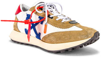 Off-White Off White Running Sneakers in White & Blue | FWRD