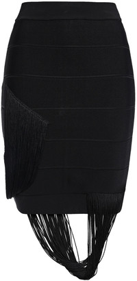 Herve Leger Fringed Bandage Mini Skirt