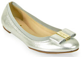 Kate Spade Tock - Ballet Flat in Silver Leather