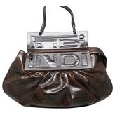 Fendi Brown Patent leather Clutch bag