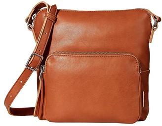 Ecco Casper Crossbody (Amber) Cross Body Handbags