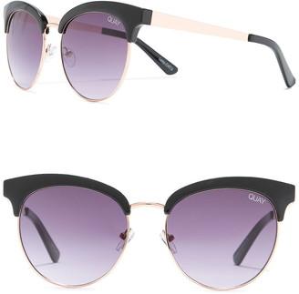 Quay Cherry 56mm Brow Bar Sunglasses