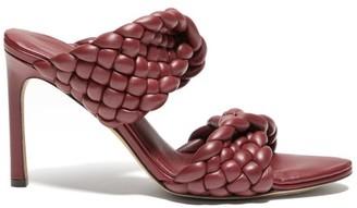 Bottega Veneta Padded Intrecciato-leather Mules - Burgundy