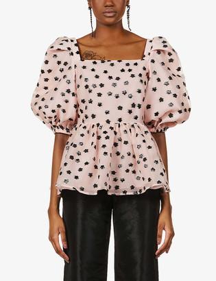 Stine Goya Irene floral jacquard organza blouse