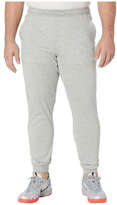 Nike Big Tall Dri-FITtm Cotton Pants (Dark Grey Heather/White) Men's Casual Pants