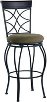 Linon Curved-Back Swivel Barstool