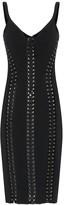 Dolce & Gabbana Lace up crepe midi dress