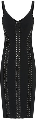 Dolce & Gabbana Lace up crepe midi dress