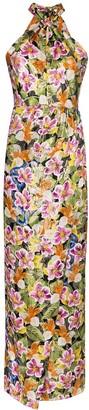 Borgo de Nor Alyona Halter Floral Maxi Dress