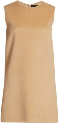 Marc Jacobs Sleeveless Wool-Blend Shift Mini Dress