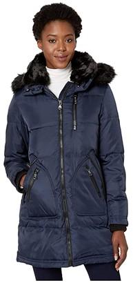 Vince Camuto Faux Fur Collar Down Coat