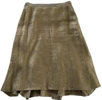 Lanvin Gold Linen Skirt for Women