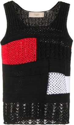 Maison Flaneur Colour Block Knitted Top