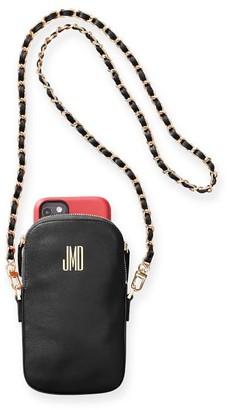 Mark & Graham Chain Strap Leather Phone Crossbody