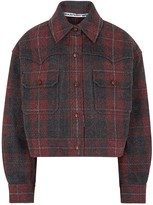 Alexander Wang Red Checked Flannel Jacket