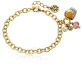 Little Miss Twin Stars Candyland 14k Gold-Plated Cupcake Charm Bracelet