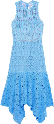 Jonathan Simkhai Asymmetric Crocheted Cotton Midi Dress