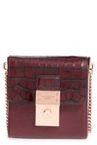 Ted Baker 'Small Luggage Lock - Maj' Leather Crossbody Bag - Black