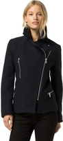 Tommy Hilfiger Boiled Wool Moto Jacket