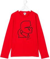 Karl Lagerfeld graphic top - kids - Cotton - 14 yrs