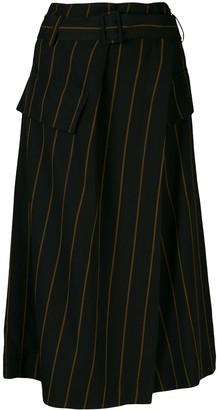 Vince Belted Striped Skirt